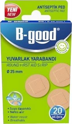 B-Good Suya Dayanıklı 25 mm 20'li Yuvarlak Yara Bandı