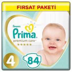 Prima Premium Care 4 Numara Maxi 84'lü Fırsat Paketi Bebek Bezi