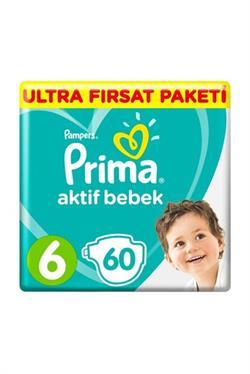 Prima Aktif Bebek 6 Numara Extra Large 60'lı Ultra Fırsat Paketi