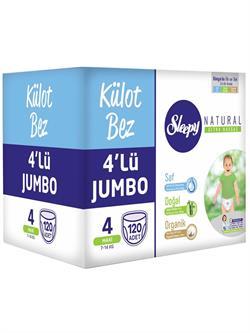 Sleepy Natural Külot Bezi 4 lü Jumbo Maxi 4 Beden 120 Adet