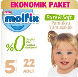 Molfix Pure&Soft 5 Numara Junior 22'li Bebek Bezi