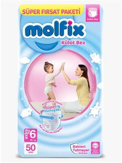 Molfix 6 Numara Extra Large 50'li Süper Fırsat Paketi Külot Bez