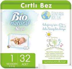 Sleepy Bio Natural 1 Numara Yenidoğan 32'li Bebek Bezi