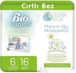 Sleepy Bio Natural 6 Numara XLarge 16'lı Bebek Bezi