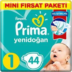 Prima Aktif Bebek 1 Beden Yenidoğan 44 Adet Bebek Bezi