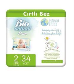 Sleepy Bio Natural 2 Numara Mini 34'lü Bebek Bezi