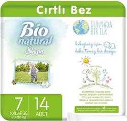 Sleepy Bio Natural 7 Numara XX Large 14'lü Bebek Bezi