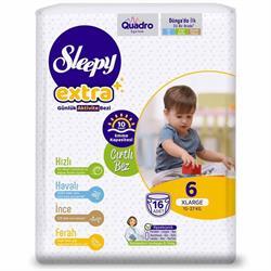 Sleepy Extra Günlük Aktivite 6 Numara XLarge 16'lı Bebek Bezi