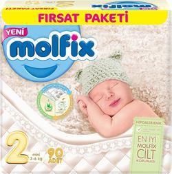 Molfix 2 Numara Mini 90'lı Fırsat Paketi Bebek Bezi