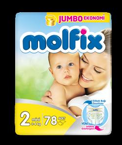 Molfix Bebek Bezi 2 Beden Mini Jumbo Paket 78 adet
