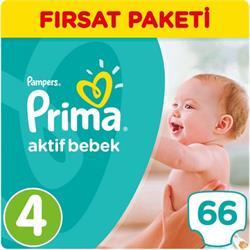 Prima Aktif Bebek 4 Beden 66 Adet