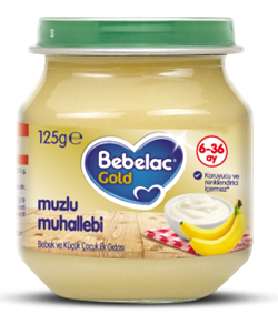 Bebelac Kavanoz Maması Muzlu Muhallebi 125 G
