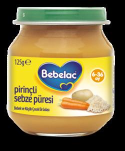 Bebelac Kavanoz Maması Pirinçli Sebze Püresi 125 G