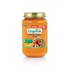Milupa Organik Kavanoz Maması Elma Muz Şeftali 200 g