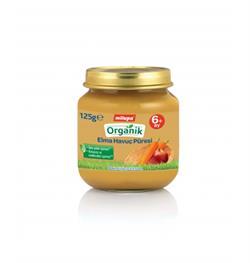 Milupa Organik Kavanoz Maması Elmalı Havuçlu 125 G
