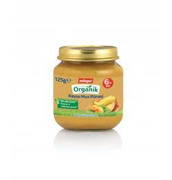 Milupa Organik Kavanoz Maması Muz Kayısı 125 G