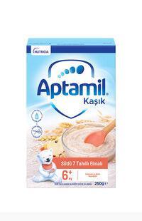 Aptamil Sütlü 7 Tahıllı Elmalı 250 gr Kaşık Maması