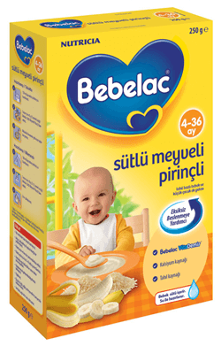 Bebelac Sütlü Meyveli Pirinçli 250 gr Bebek Maması
