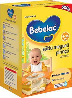 Bebelac Sütlü Meyveli Pirinçli 500 gr Bebek Maması