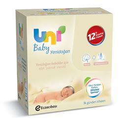 Uni Baby Yenidoğanlar İçin 12'li Islak Mendil