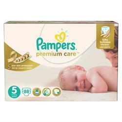 Prima Premium Care 5 Beden Junior Aylık Paket 88 Adet Bebek Bezi
