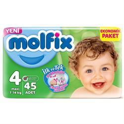 Molfix Bebek Bezi 4 Beden Maxi Jumbo Paket 45 adet
