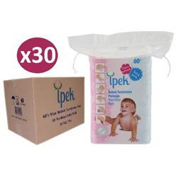 İpek 60'lı Bebek Temizleme Pamuğu 30 Lu Paket