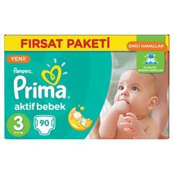 Prima Aktif Bebek 3 Beden 90 Adet