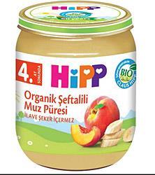 Hipp Organik Şeftalili Muz Püresi