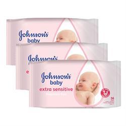 Johnson's Baby Yenidoğan Parfümsüz 3'lü 56 Adet Islak Mendil