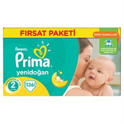 Prima Bebek Bezi Aktif Bebek Hiper Ekonomik 2 Mini 136 Adet