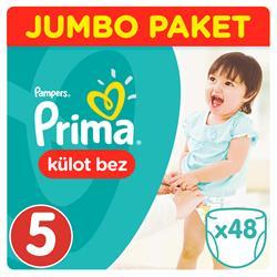 Prima Pants Külot Bebek Bezi Jumbo Paket 5 Beden 48 Adet